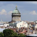 Вид из окна на крыши Петербурга